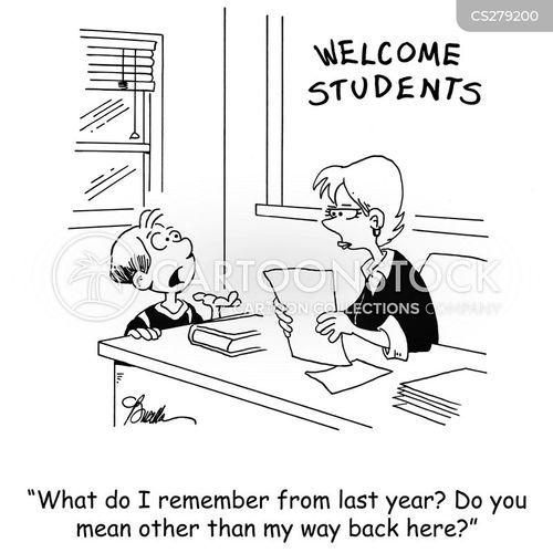 school years cartoon