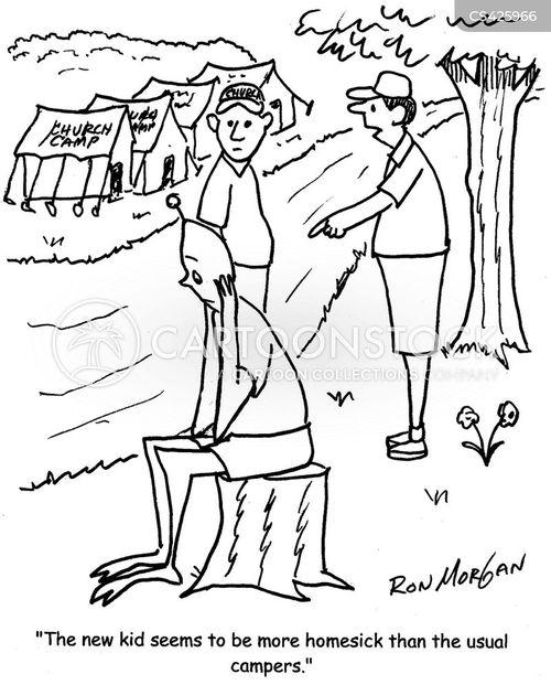 homesick cartoon