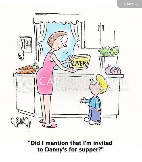 dinner plan cartoon