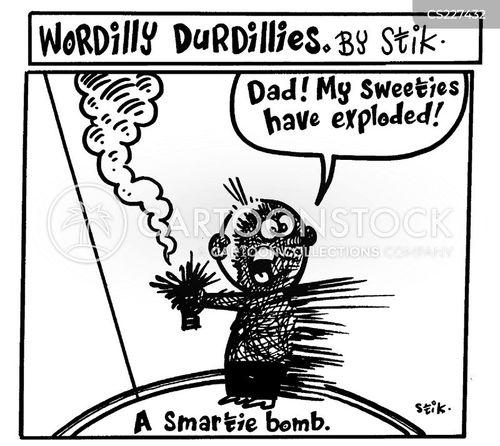 explosive device cartoon