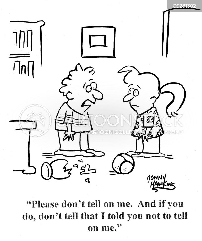 tattling cartoon