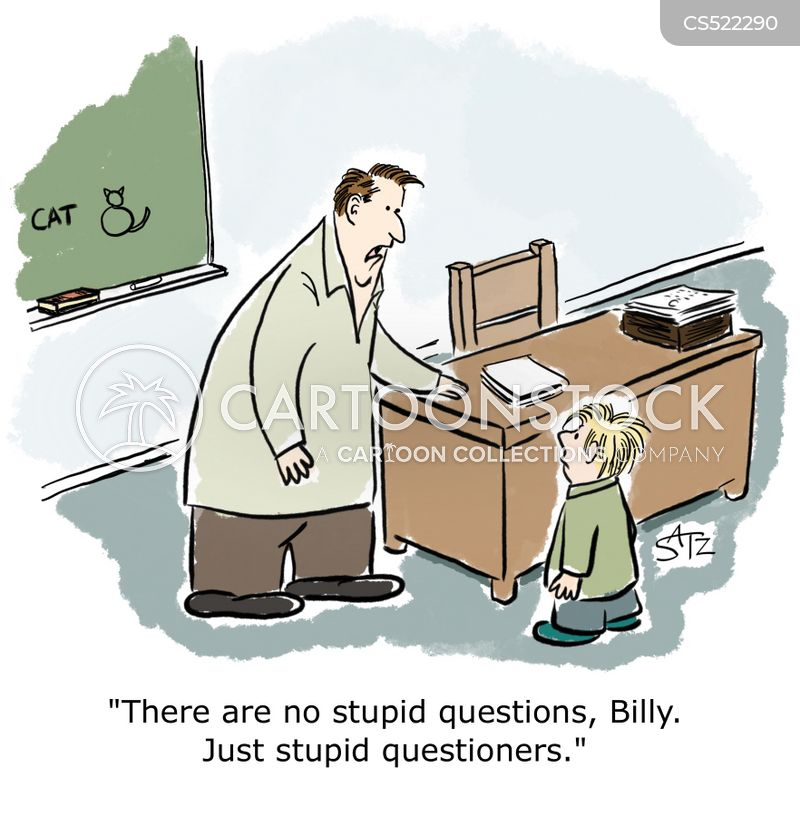 questioner cartoon