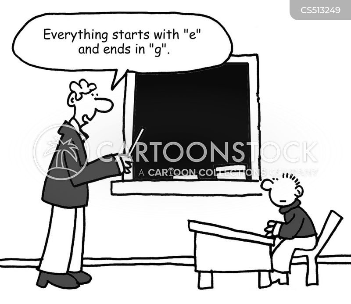 spelling rules cartoon
