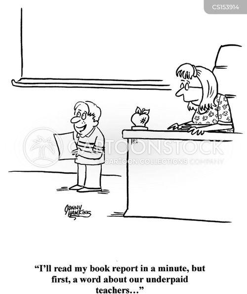 book reports cartoon