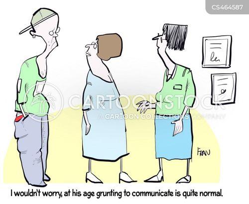 grunting cartoon