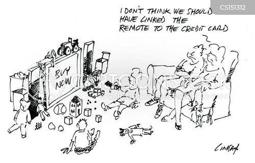shopping channel cartoon