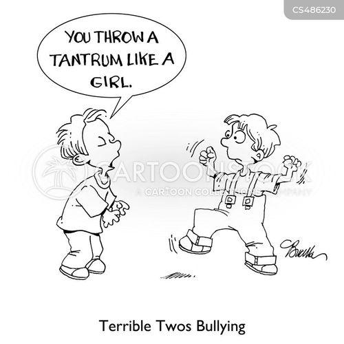 throwing a tantrum cartoon