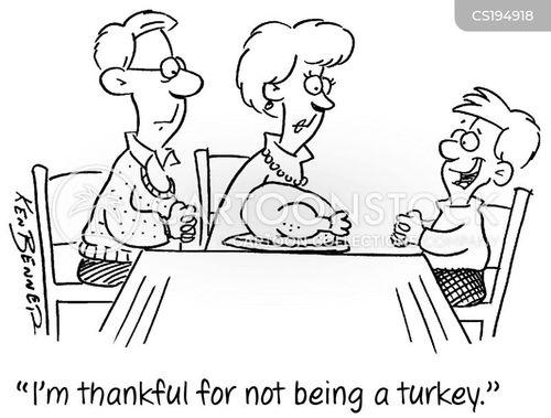 seasonal food cartoon