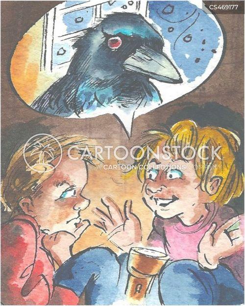 the raven cartoon