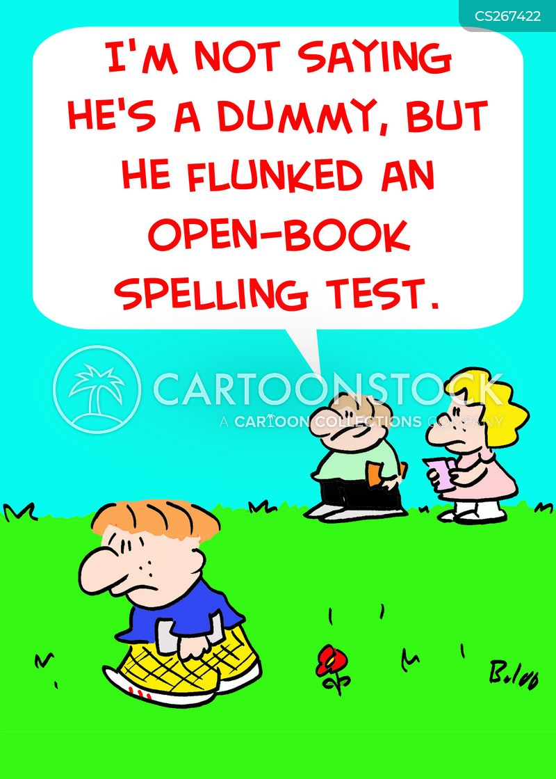 Open Book Spelling Test Cartoons, Open Book Spelling Test Cartoon, Funny,