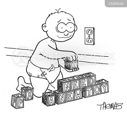 building blocks cartoon