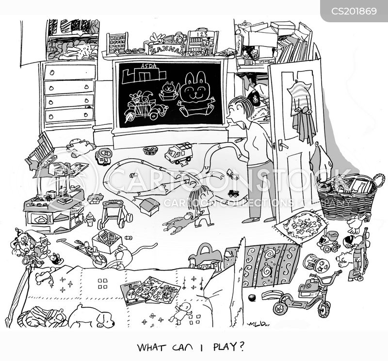 Kids Bedroom Drawing messy room cartoons and comics - funny pictures from cartoonstock