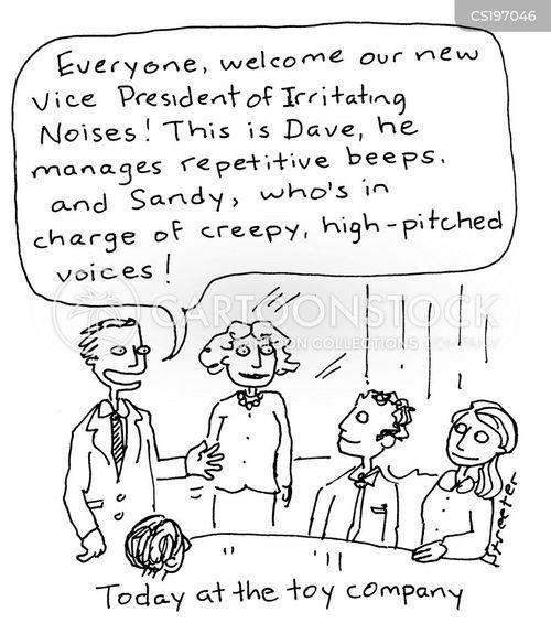 irritating noise cartoon
