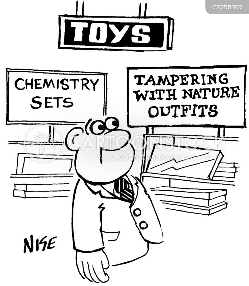 chemistry sets cartoon
