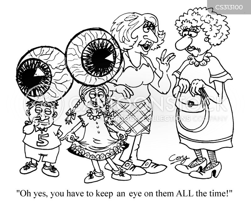 look after cartoon
