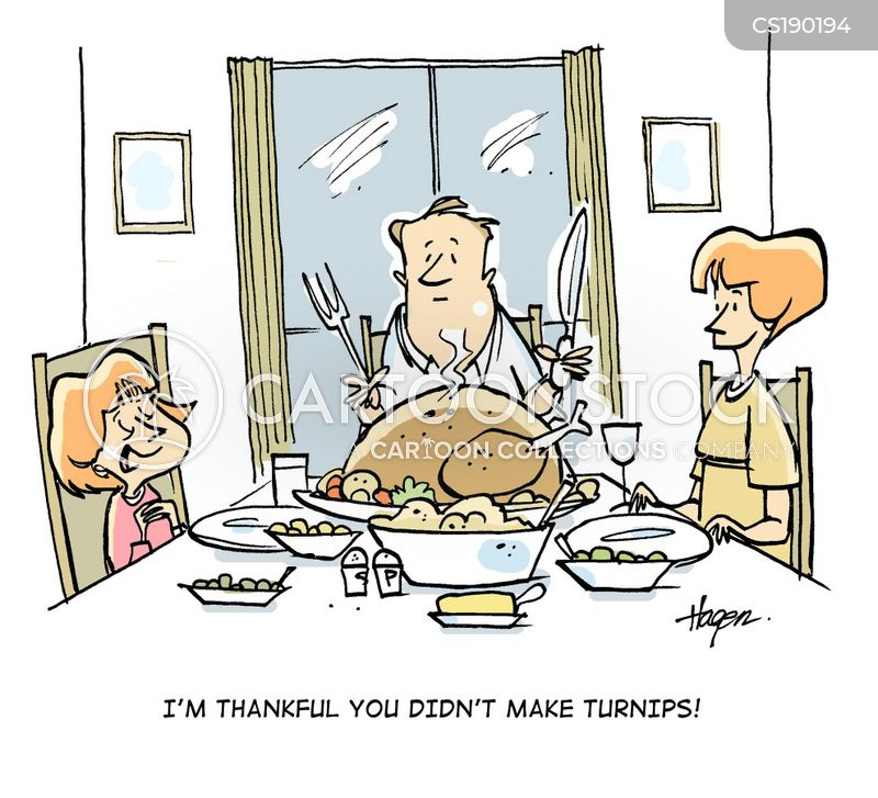 sunday dinner cartoon