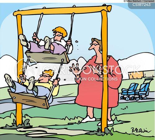 swing set cartoon