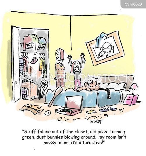 Untidy Bedroom Art: Untidy Bedroom Cartoons And Comics