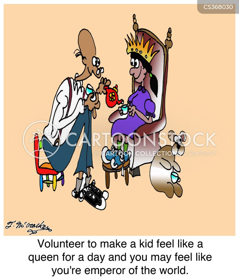 volunteering opportunity cartoon