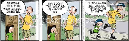 charity walk cartoon