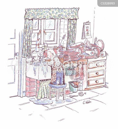washing-up cartoon