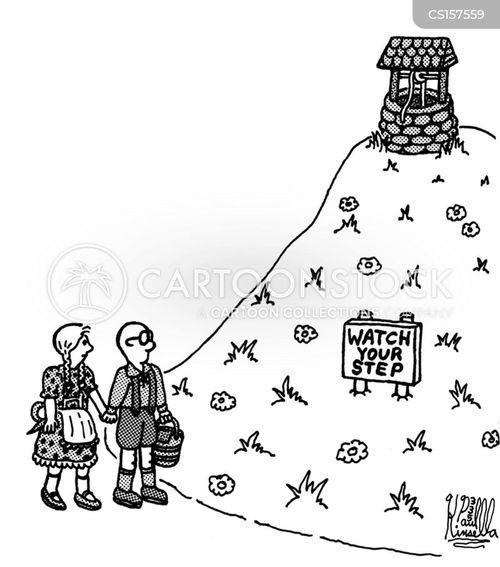 watch your step cartoon
