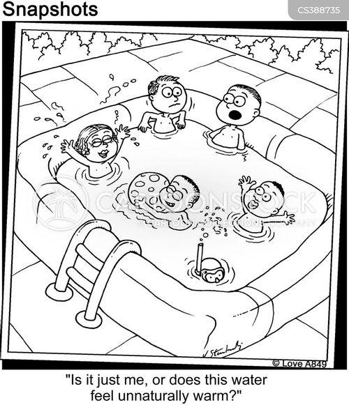 warm water cartoon