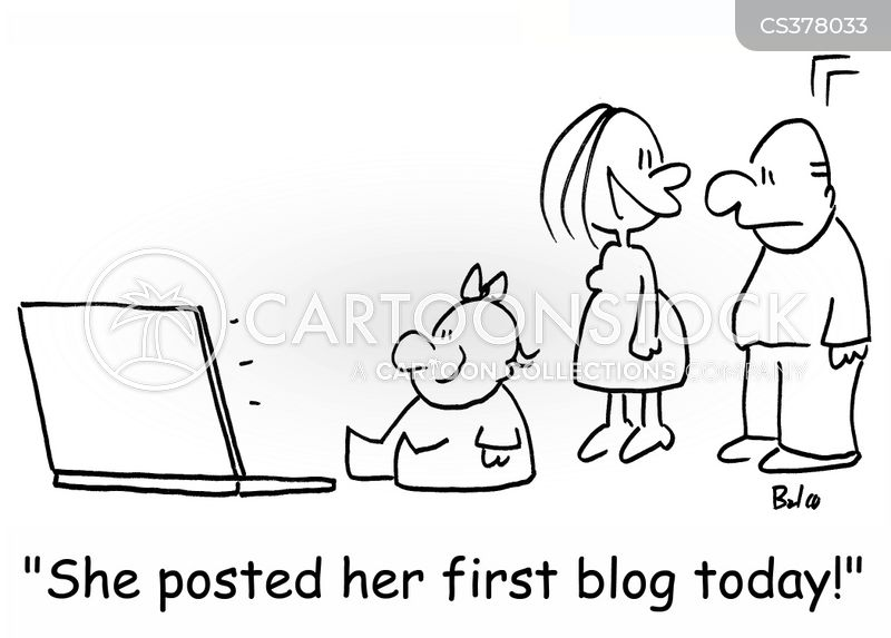 internet blog cartoon