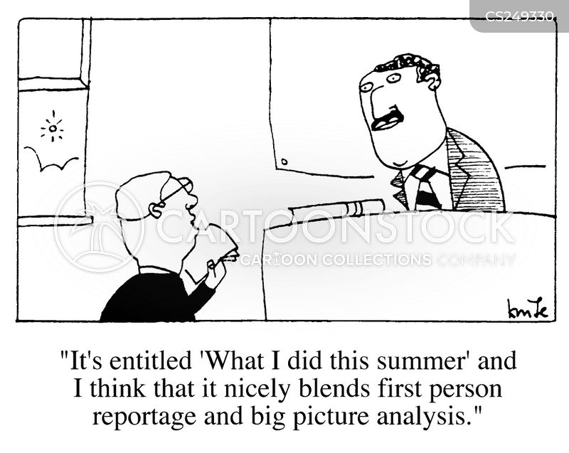 what i did this summer cartoon