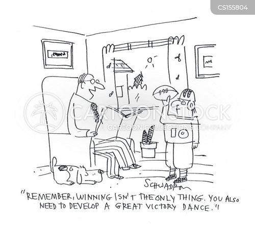 victory dances cartoon
