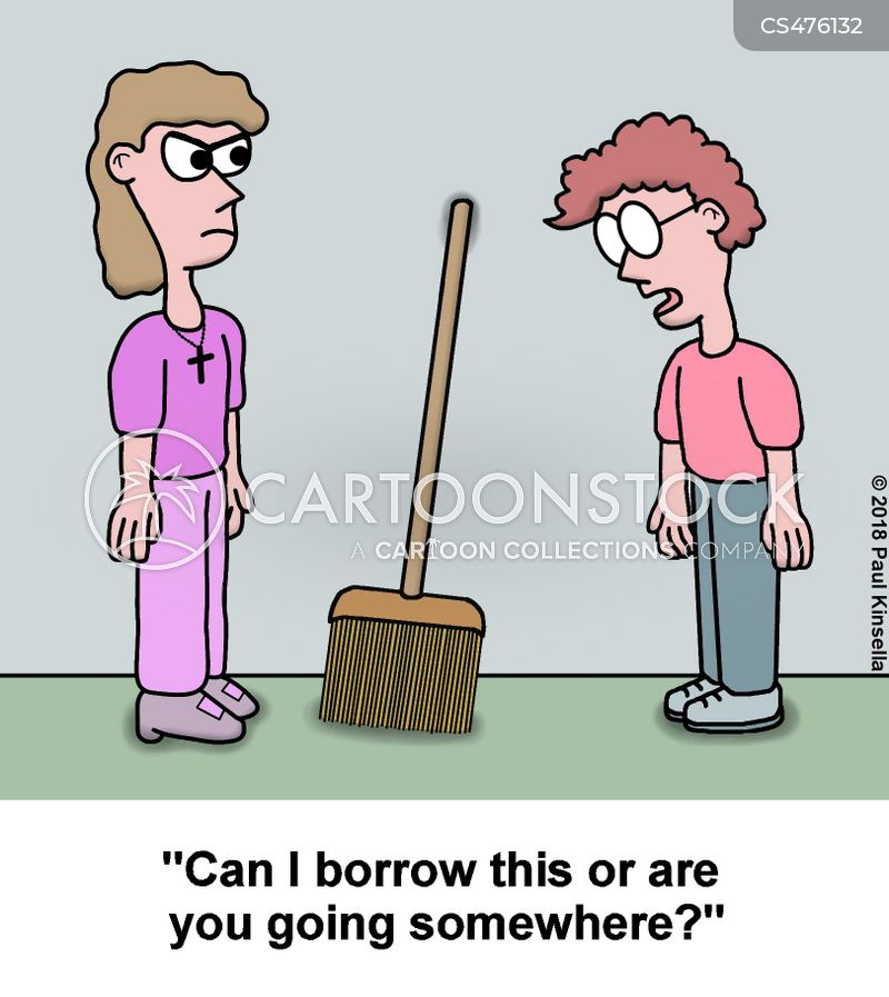 witches brooms cartoon