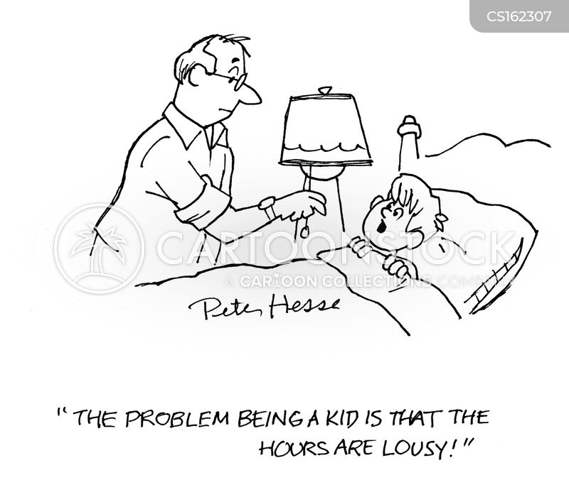 time for bed cartoon