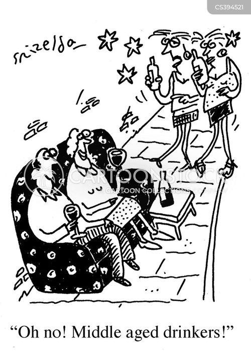 street drinking cartoon