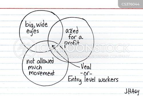 entry level worker cartoon