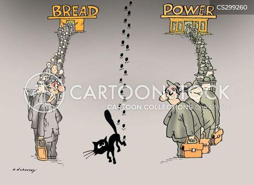 bread line cartoon