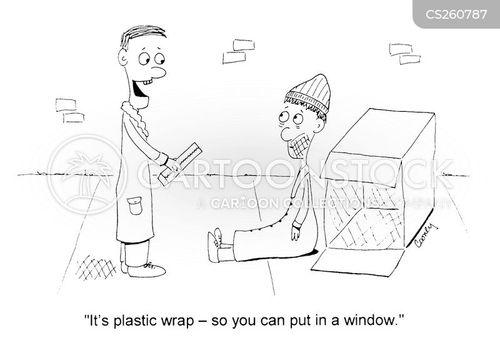 plastic wrap cartoon