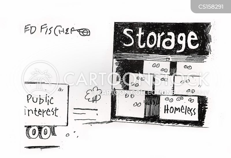 storage centre cartoon