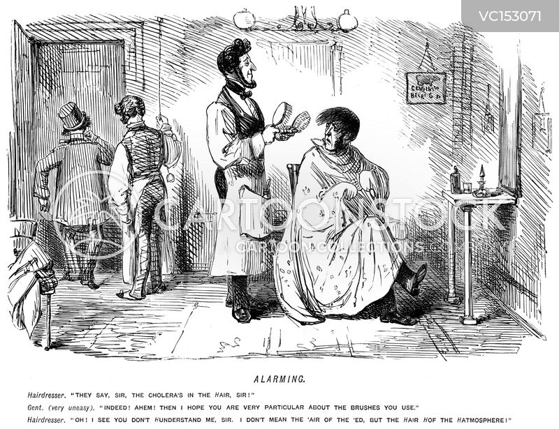 Hairdressing Vintage And Historic Cartoons