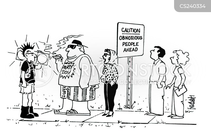 anti social behavior cartoon
