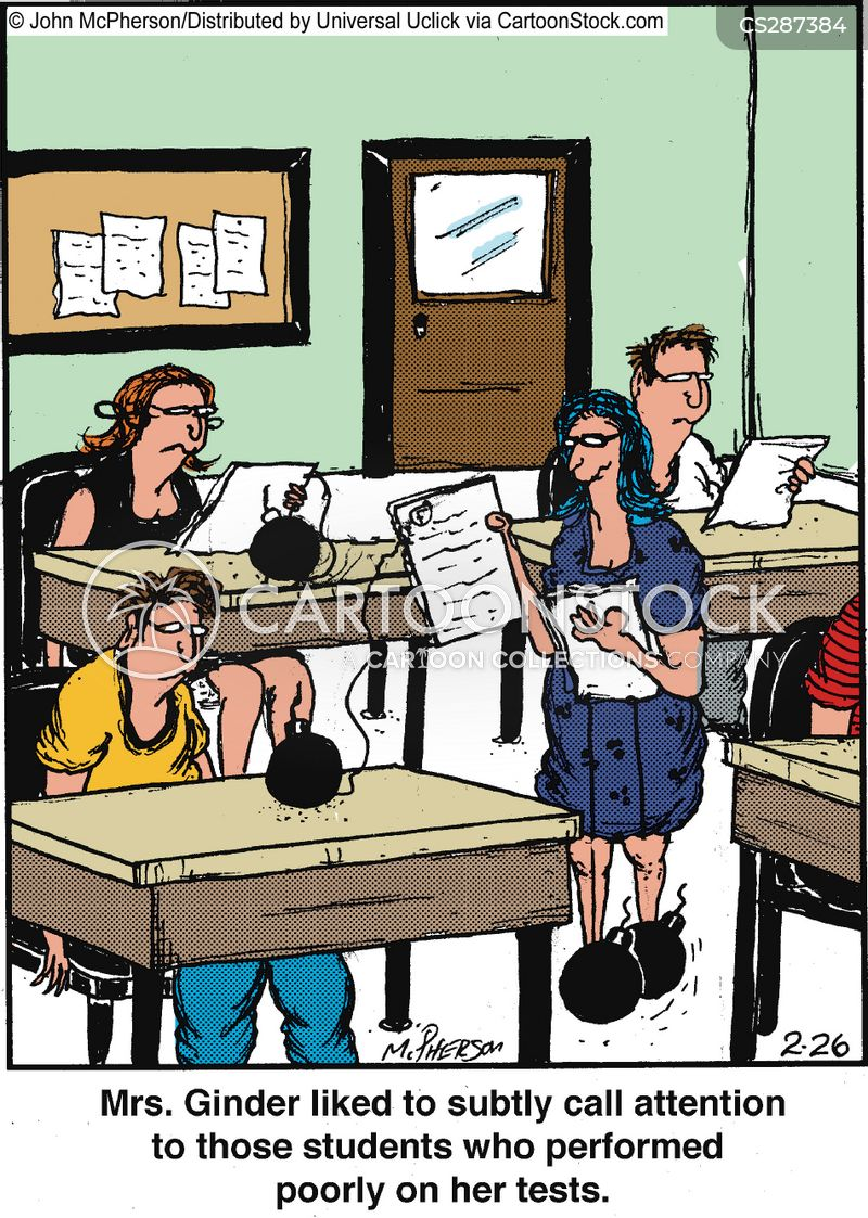drawing attention cartoon