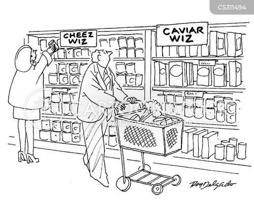 up-market cartoon
