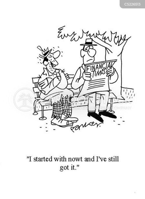 reading the newspaper cartoon