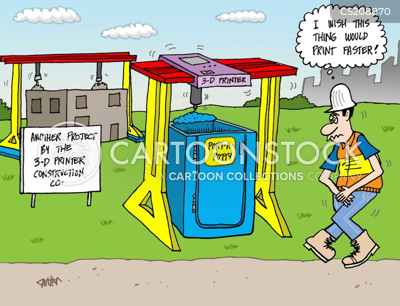 3d printers cartoon