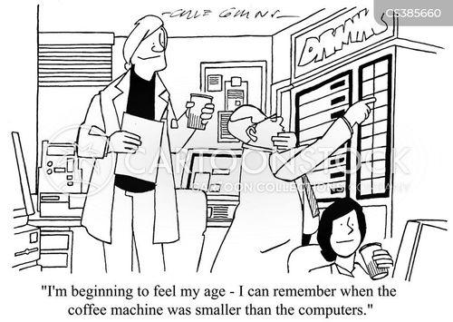 computer technologies cartoon