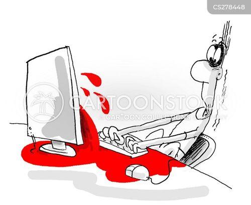 surfing the internet cartoon