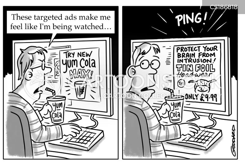 targeted advertising cartoon