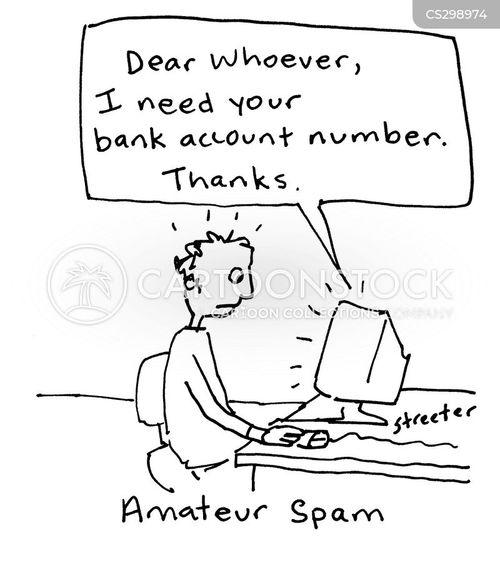 junk emails cartoon