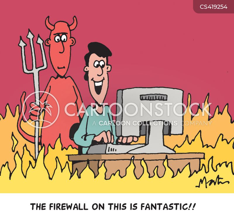 firewalls cartoon