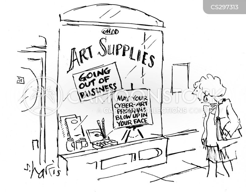 Art Software Cartoons and Comics - funny pictures from CartoonStock
