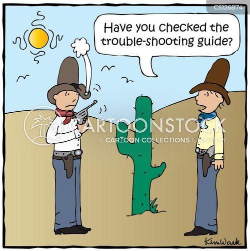 trouble shooters cartoon